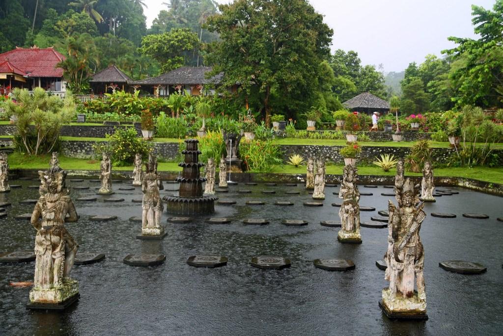 raining at the Water Palace Bali