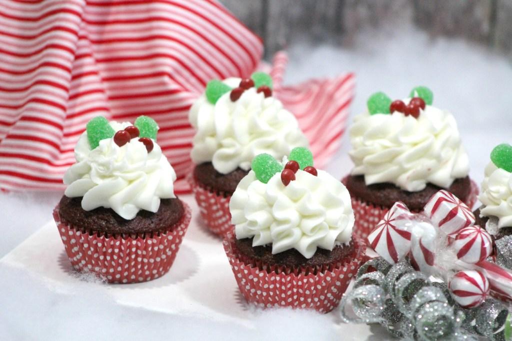 Holly red velvet Cupcakes
