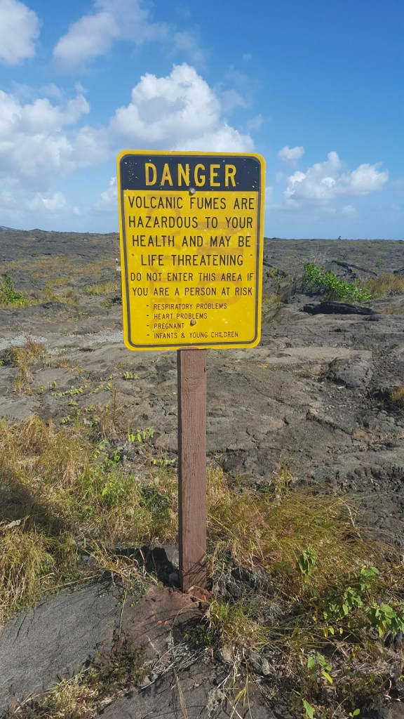 Volcano Warning Sign