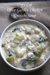 Olive Garden Chicken and Gnocchi Soup
