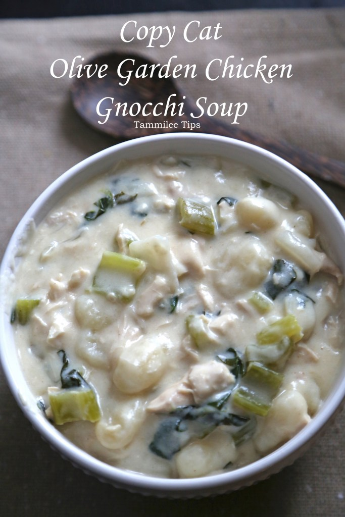 Make your favorite Copy Cat Recipe Olive Garden Chicken Gnocchi Soup Recipe at home! Super easy recipe for dinner the family will love. Restaurant favorite that can be made at home. Great comfort food meals!
