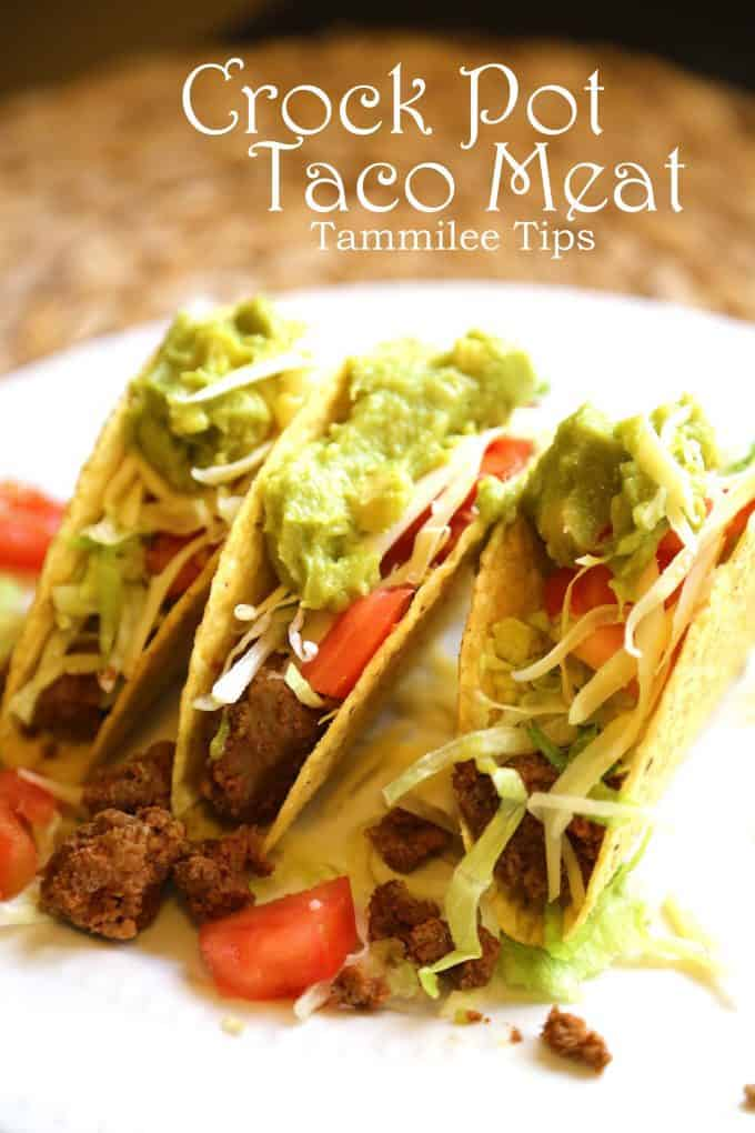 Slow Cooker Taco Filling Recipe aka Crock Pot Taco Beef Recipe is a quick and easy way to get dinner ready. Perfect for Taco Night at home!