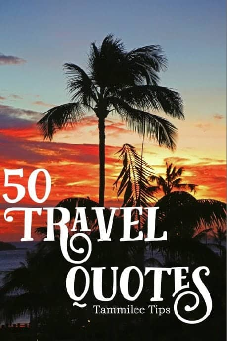 50 Travel Quotes for Instagram, Scrapbooking, Journaling and more! Wanderlust, Adventure, Inspiration, Beautiful, Love, Family, World Travels, Tattoo Ideas, Motivational, Travel Life and more!