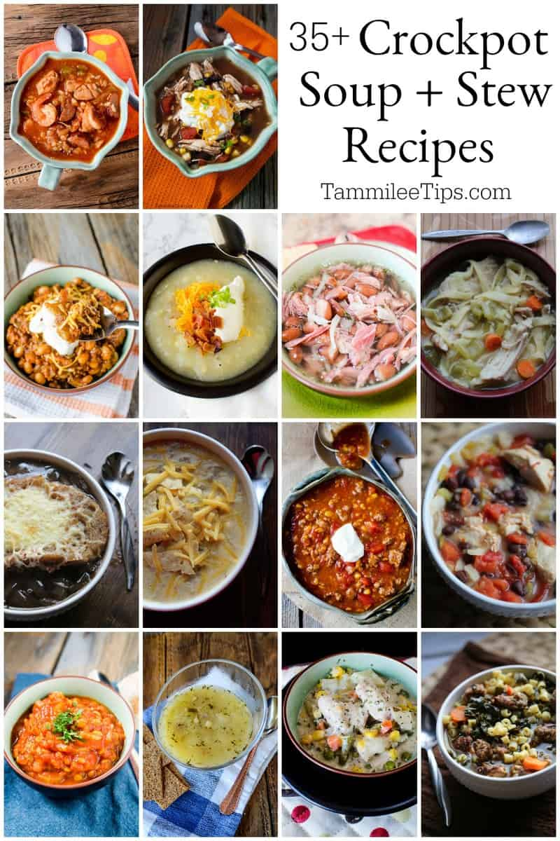 35+ Crock Pot Soup Recipes your family will love! Let the slow cooker do all the work and enjoy these great soup recipes perfect for winter or any season!   #crockpot #slowcooker #soup #stew #recipe #easyrecipe
