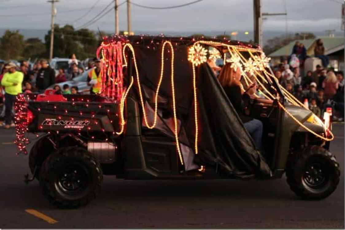 Decorated Ranger in the Waimea Christmas Parade