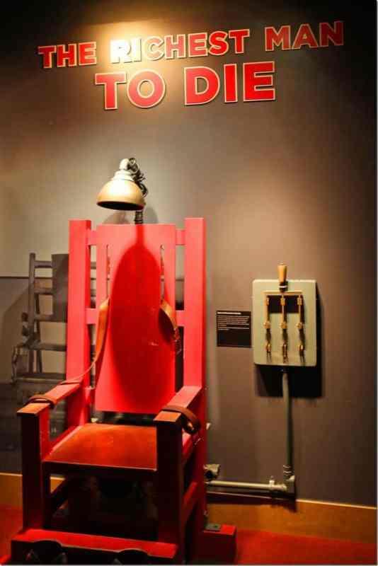 Electric Chair in Mob Museum Las Vegas