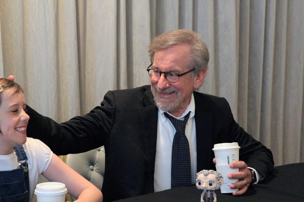 Steven Spielberg and Ruby Barnhill