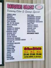 Lake Charles Daiquiri Shack Menu