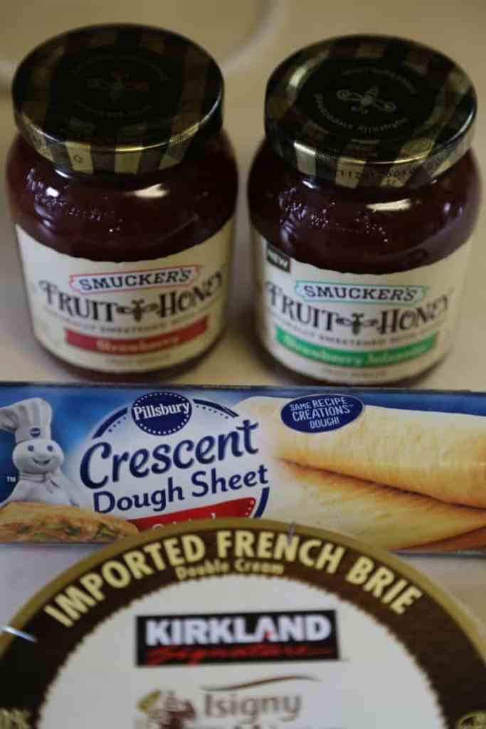 Strawberry Brie Braided Crescent Appetizer Recipe Ingredients