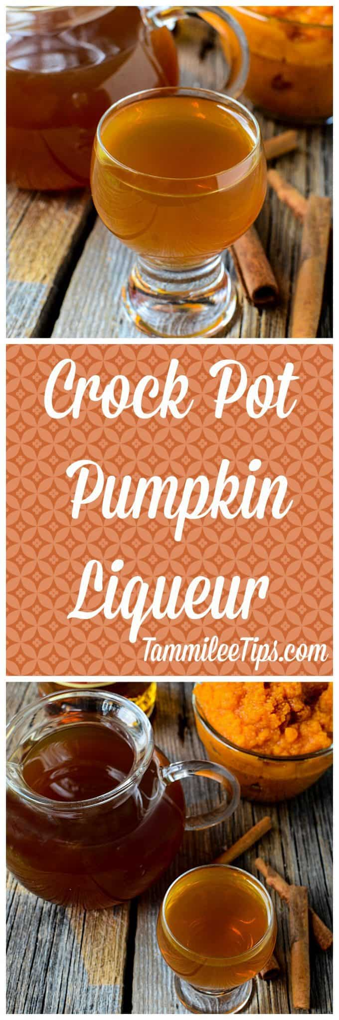 Crock Pot Pumpkin Liqueur Recipe! Take your pumpkin spice lattes to a new level by making them an adult alcoholic beverage! Perfect for fall this slow cooker recipe is super easy to make. This is a great DIY Gift for friends.