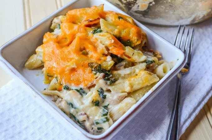 Easy Cheesy Chicken Pasta Casserole Recipe