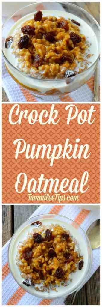 Crock Pot Pumpkin Oatmeal Recipe