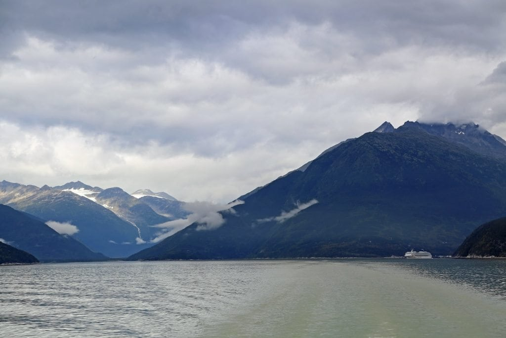 Leaving Skagway on a catmaearan to Haines