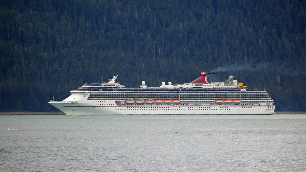 Carnival Legend in Tracy Arm Fjord