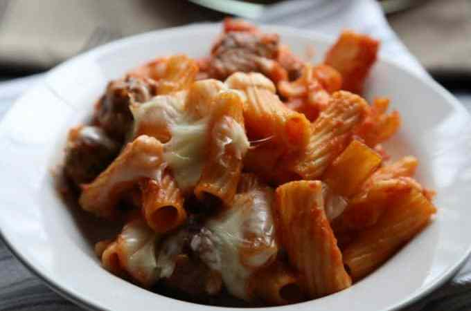 Baked Rigatoni with Mini Meatballs Recipe