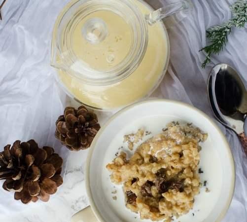 Slow Cooker Crock Pot Eggnog Oatmeal Recipe