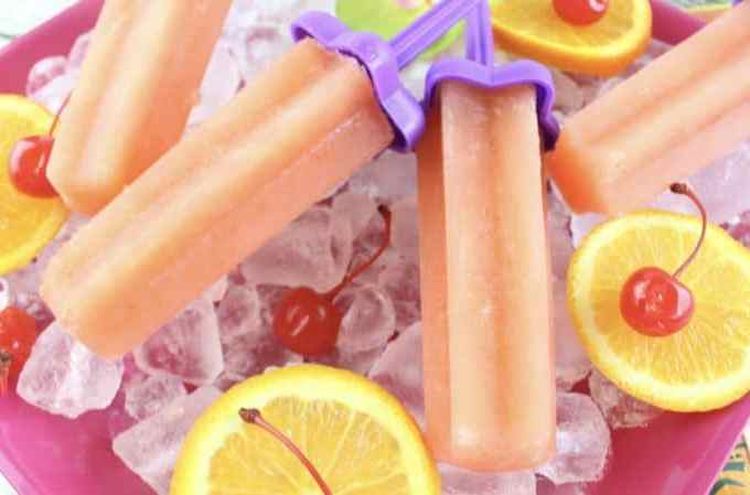 Bahama Mama Ice Pops Recipe, Adult Popsicle perfect for summer!