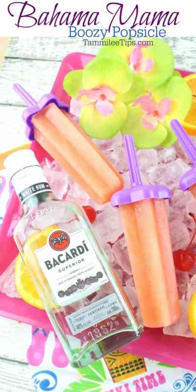 Easy Frozen Bahama Mama Recipe for adult ice pops! The perfect cold treat on a hot summer day! Make a larger batch for summer parties, barbecues, tiki party, picnics and more! So easy to make