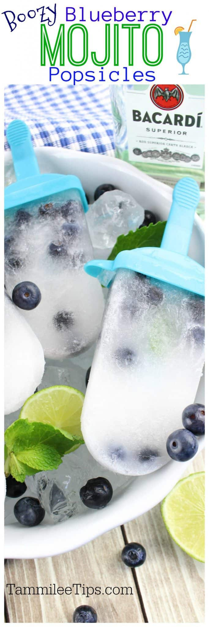 Celebrate Summer with these boozy adult blueberry mojito popsicle recipe! Perfect for parties, barbecues, picnics or any day of the week.