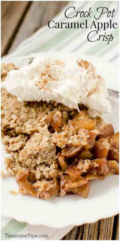 Easy Best Crockpot Apple Crisp Recipe! This is the perfect party dessert! The slow cooker does all the work and you get to serve a delicious dessert!