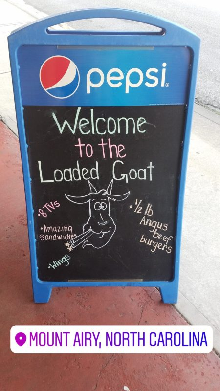 Loaded Goat, Mount Airy, North Carolina