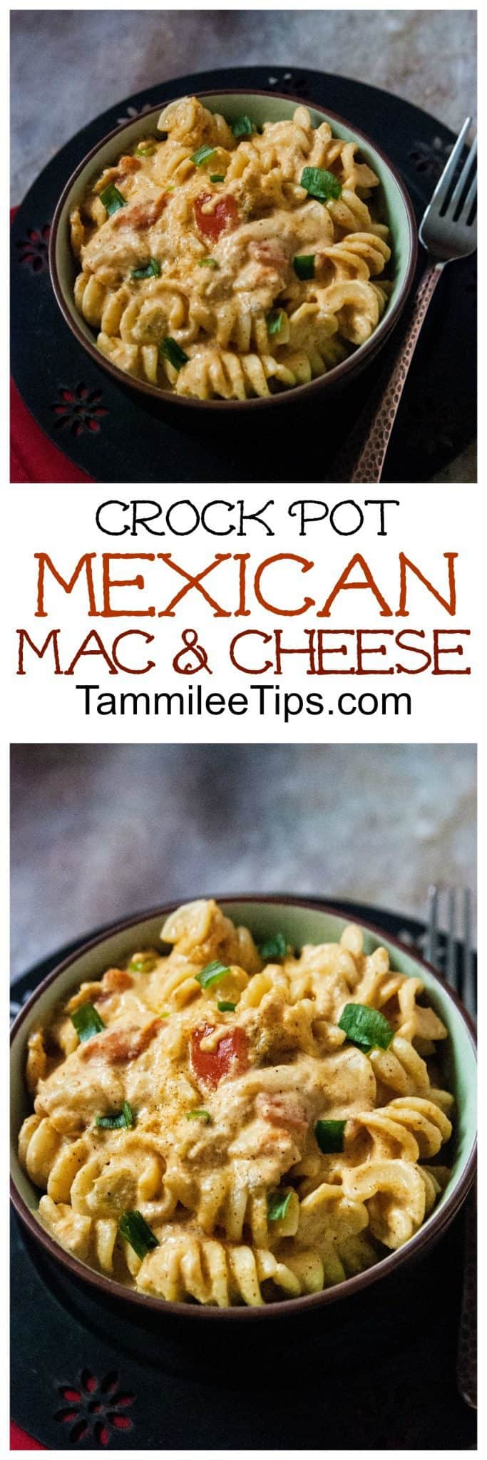 Slow Cooker Crock Pot Mexican Macaroni and Cheese Recipe! The perfect homemade comfort food dinner for the entire family!