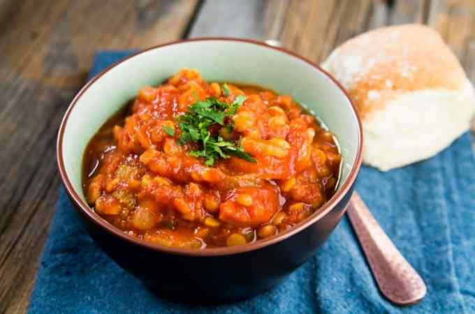 Crock Pot Slow Cooker Vegan Lentil Soup Recipe