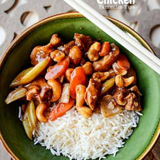 Easy healthy Slow Cooker Crock Pot Cashew Chicken Recipe! This is a great make at home dinner the family will love #slowcooker #crockpot #easy #recipe #chicken