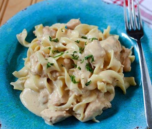 Slow Cooker Crock Pot Chicken Stroganoff Recipe
