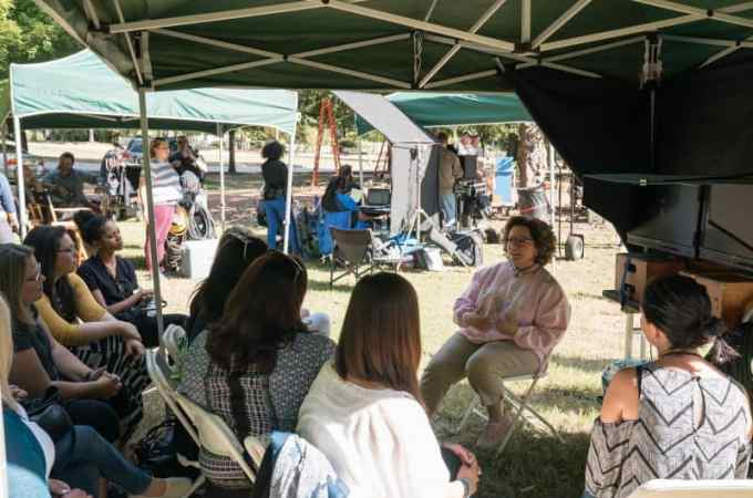 Secret set visit to Life of the Party with Melissa McCarthy
