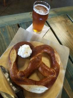 Harmony Hall Grand Rapids Pretzel and a Beer