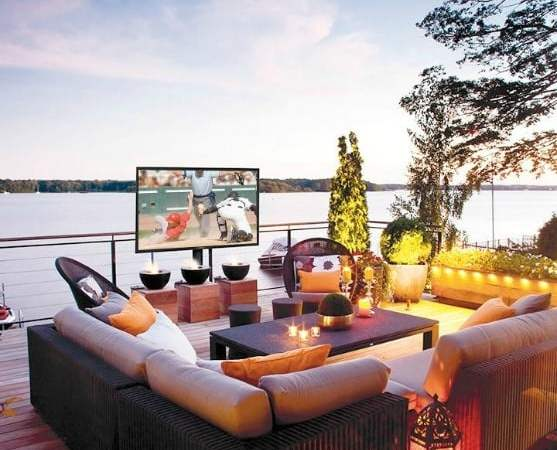 Create the backyard of your dreams with a SunBrite TV from Best Buy!
