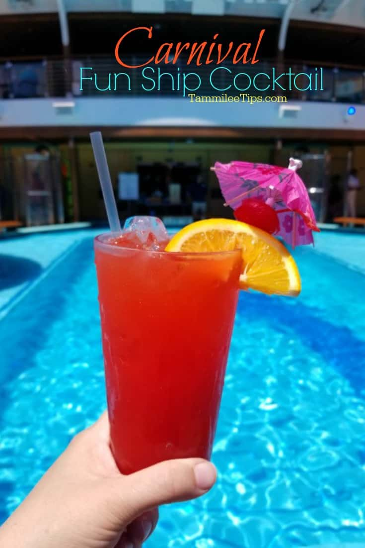 Carnival Fun Ship Cocktail Recipe is one of our favorite Carnival Cruise Drinks! This easy to make tropical cocktail will be a party hit! #cocktail #recipe #carnival #carnivalcruise #cocktail
