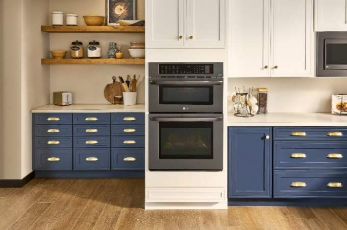 LG combination double wall oven on sale at Best Buy