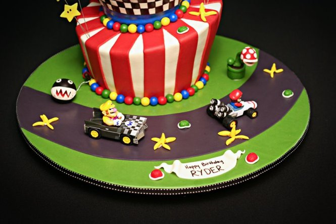 Super Mario First Birthday Party Theme Figurines Decorations Cupcakes