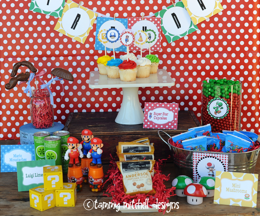 Boy Parties Video Game Parties Super Mario Brothers Party