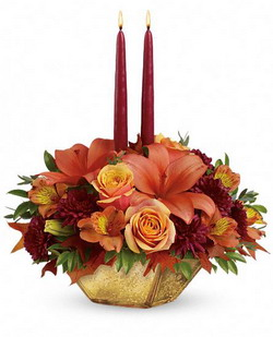 Harvest Gold Centerpiece from Tammys Floral