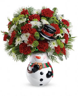 Snowman Cookie Jar Bouquet from Tammys Floral