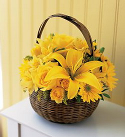 Yellow Flower Basket from Tammys Floral