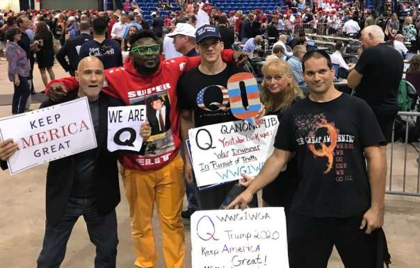 Image result for qanon rally