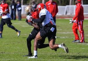 East-West Shrine Game practice