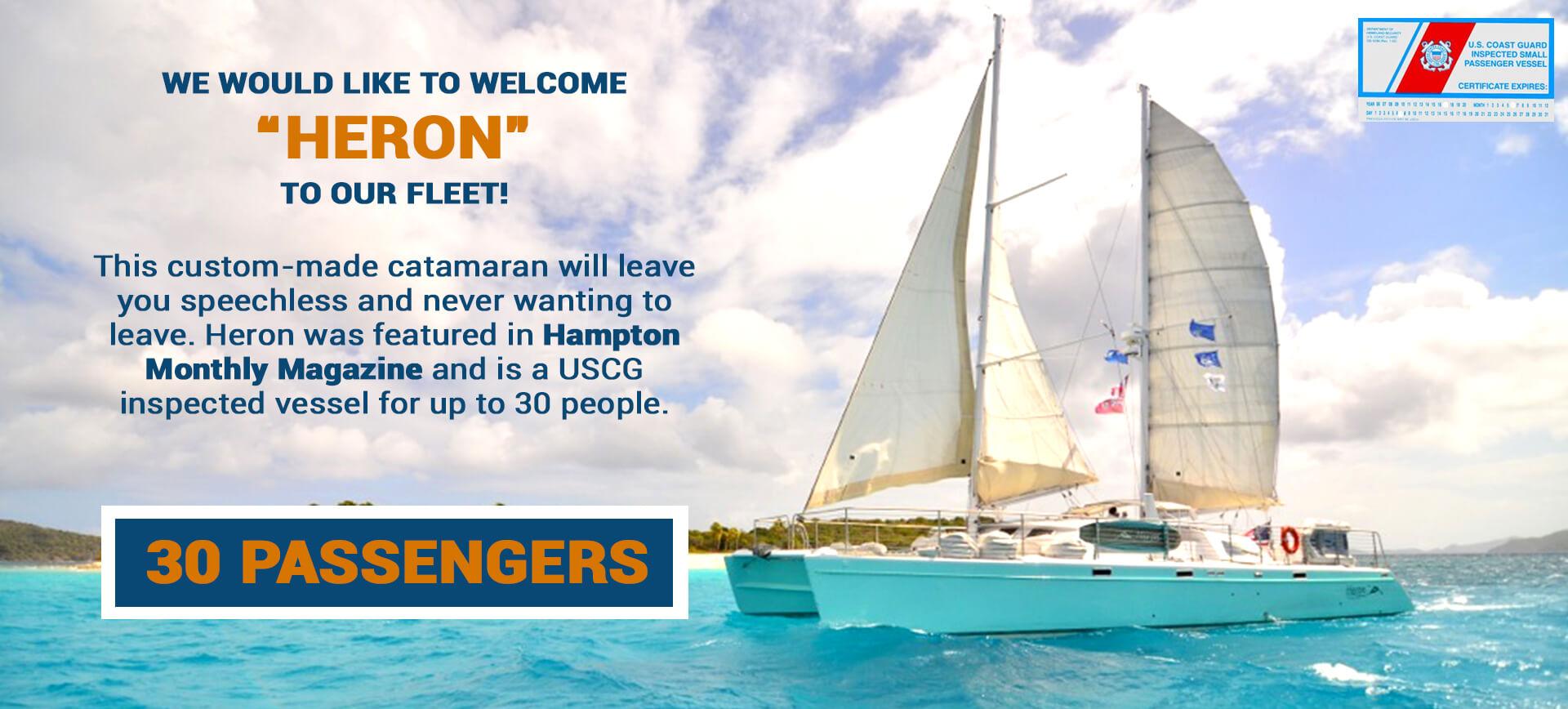 New sailing yacht heron can accommodate 30 passengers accommodates up to 30 passengers 1betcityfo Choice Image