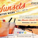 Wednesday nights mean stunning sunsets and free cocktails at PIER 22 in downtown Bradenton.