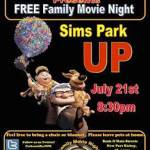 The City of New Port Richey Parks and Recreation Department presents FREE Family Movie Night at Sims Park