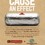 Eat at Chipotle, Support Boys & Girls Clubs of Tampa Bay on Aug. 16