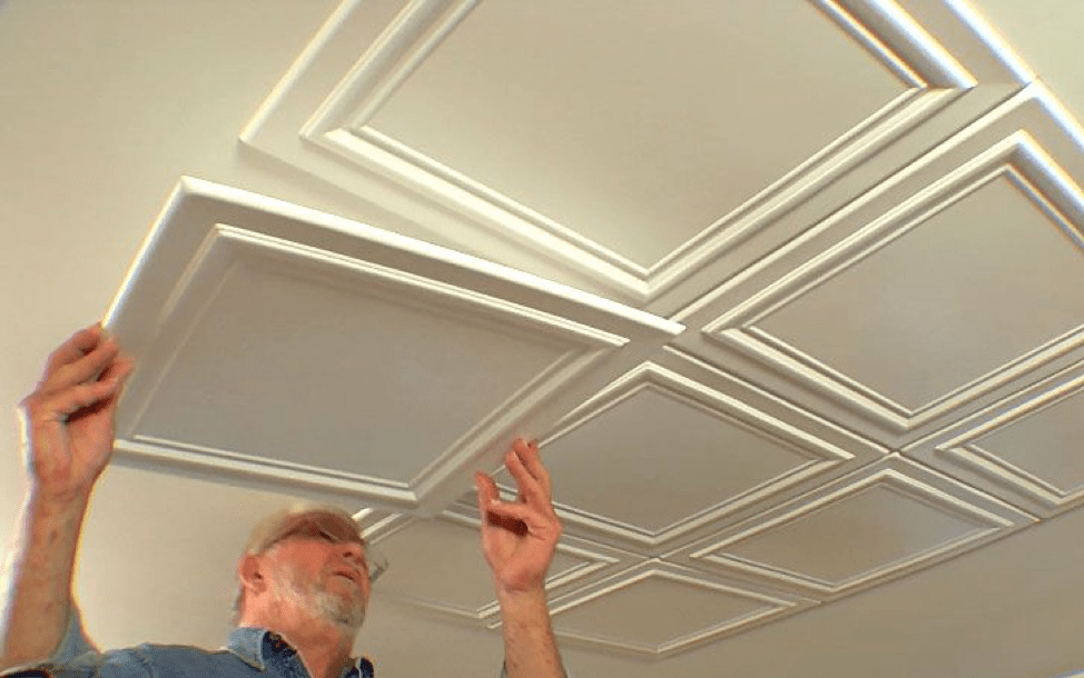 Embossed Ceiling Tiles Add Elegance to a Room • Ron Hazelton ...