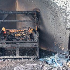 House Fire Burned Chair