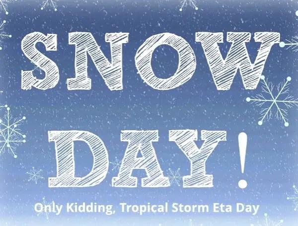 tropical storm eta day