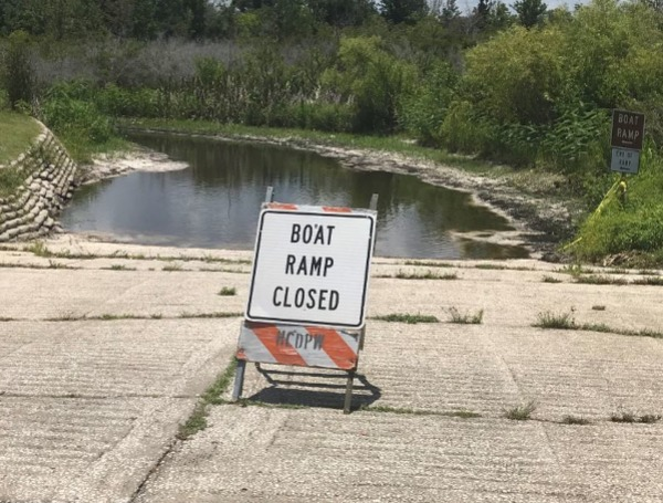 Low Water Levels For Boat Ramp