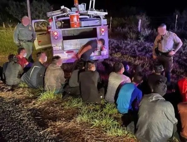 Illegal Immigrants in a truck
